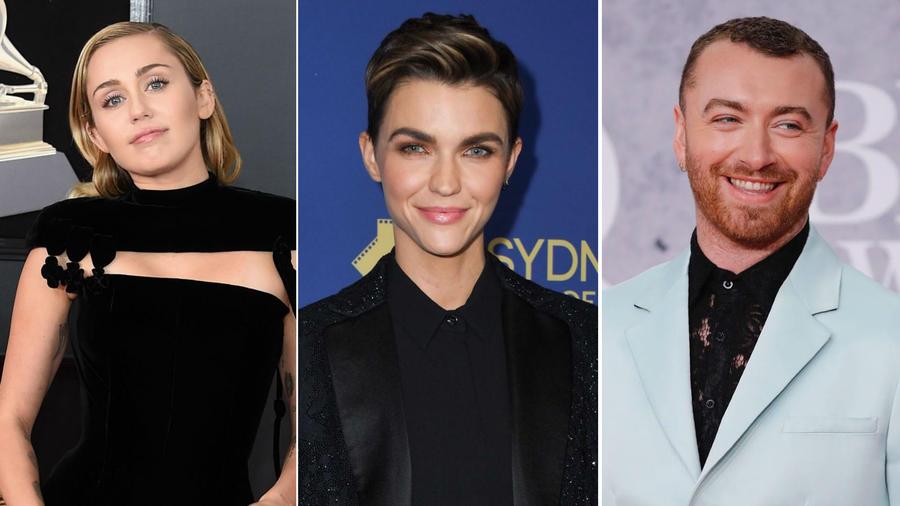 Miley Cyrus, Ruby Rose y Sam Smith