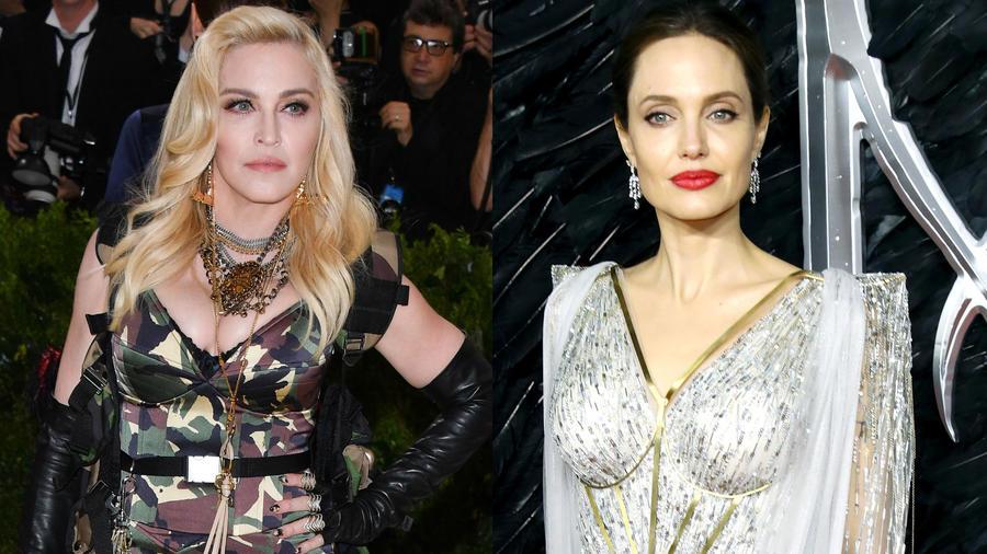 Madonna y Angelina Jolie