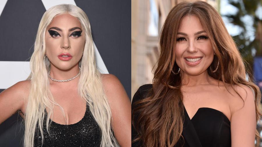 Lady Gaga y Thalía