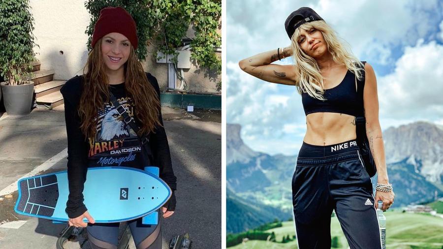 Shakira y Miley Cyrus