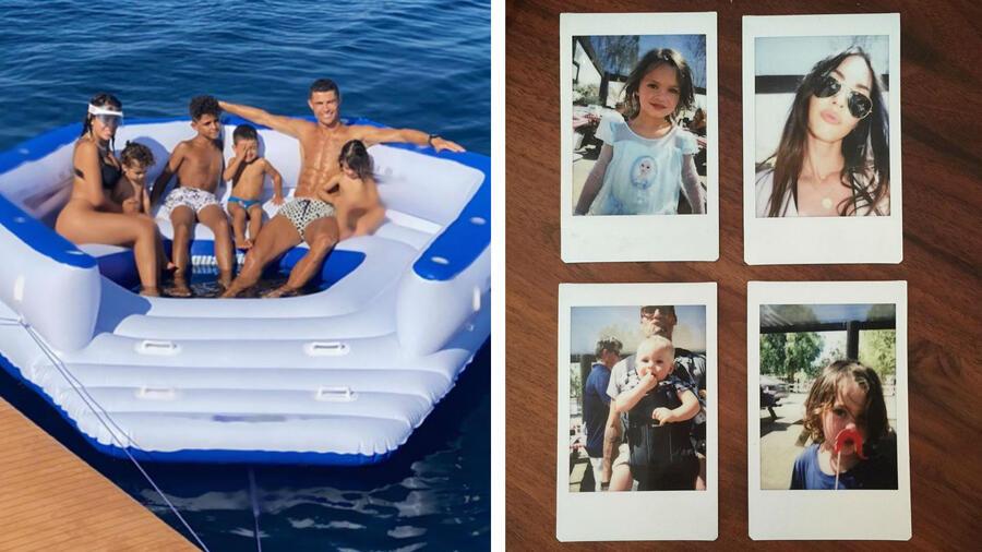 Cristiano Ronaldo y Megan Fox con sus hijos