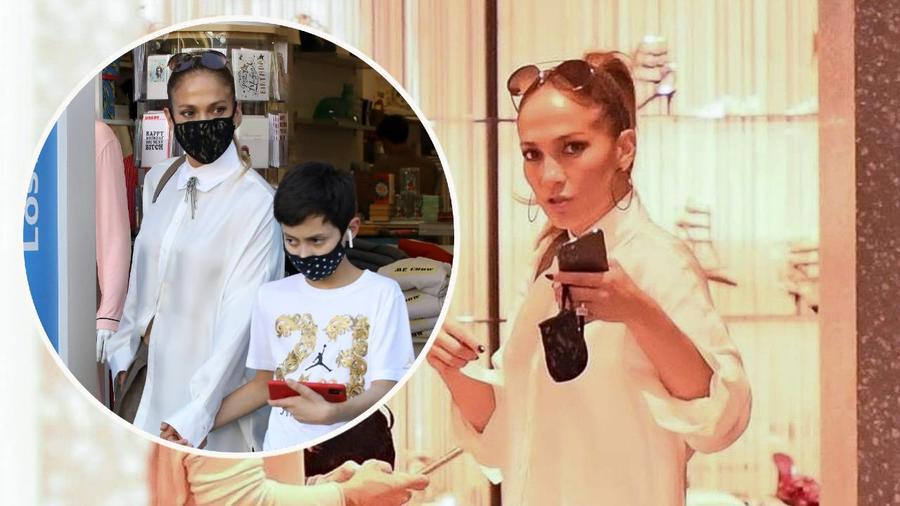 Jennifer Lopez de compras con su hijo Max en Rodeo Drive
