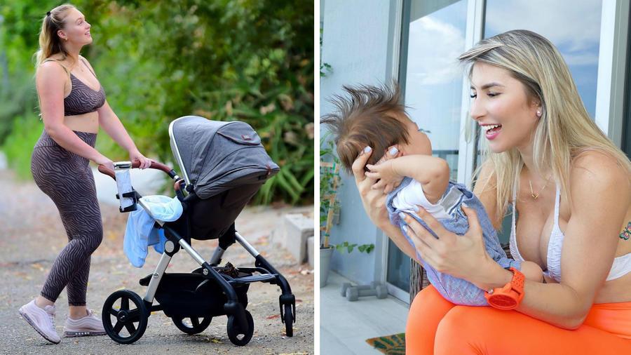 Iskra Lawrence y Natasha Araos con sus bebés