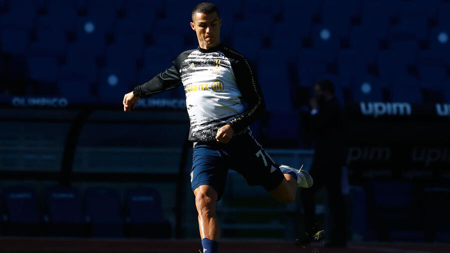 Cristiano Ronaldo entrenando