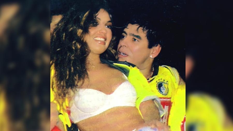 Thalía con Maradona