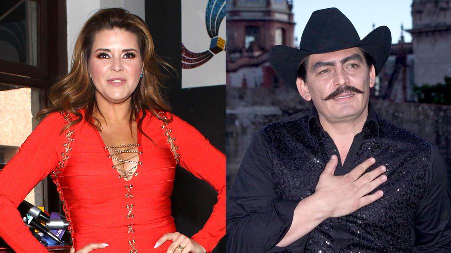 Alicia Machado y José Manuel Figueroa