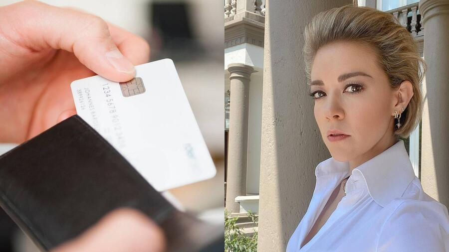 Tarjeta de débito y Fernanda Castillo