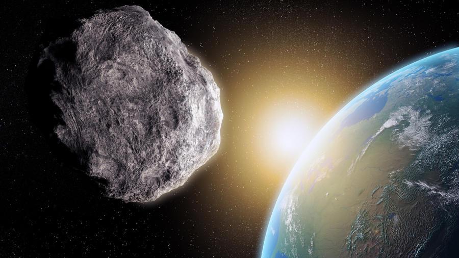 Asteroide y planeta tierra