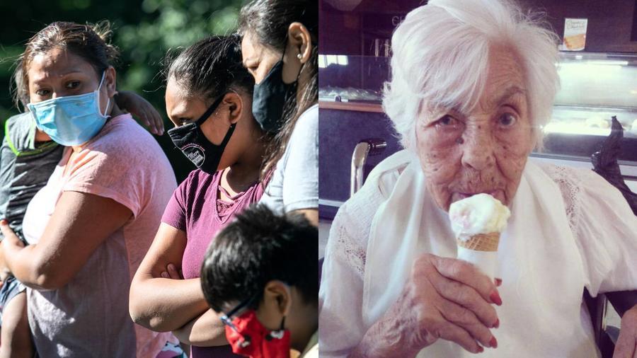 Inmigrantes y Eva Mange, abuelita de Thalía