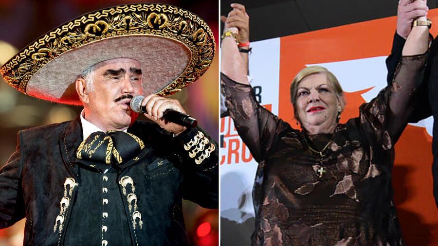Vicente Fernández y Paquita la del Barrio