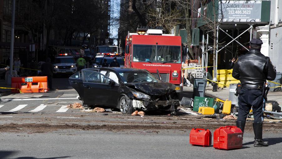 Choque automovilístico deja seis heridos en Manhattan