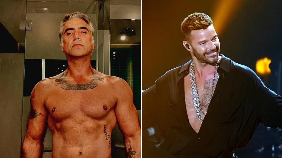 Alejandro Fernández y Ricky Martin presumen sus cuerpos en sus 50 años