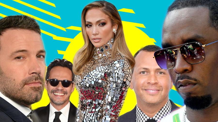 Jennifer Lopez, Ben Affleck, Mark Anthony, Alex Rodriguez, P. Diddy