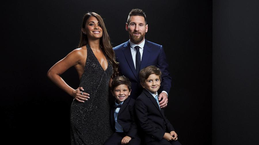 Lioner Messi y su familia