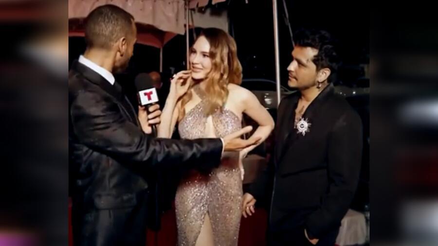 Belinda y Christian Nodal en la alfombra roja de los Premios Billboard de la Música Latina 2021