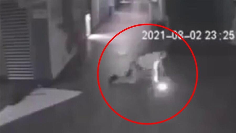 Vigilante asegura que fue atacado brutalmente por fantasma