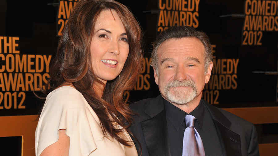 Susan Schneider y su esposo Robin Williams