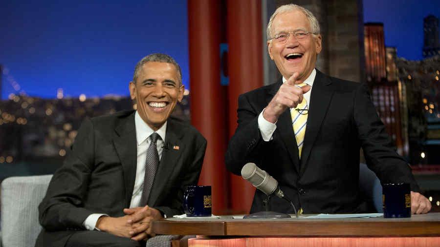 Barack Obama y David Letterman en 'The Late Show with David Letterman'