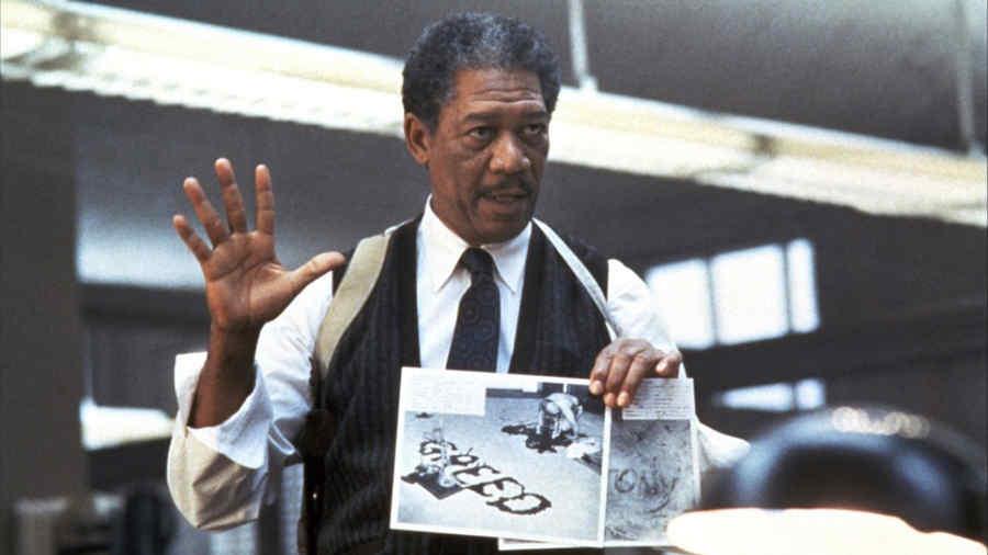 """Morgan Freeman en """"Se7en""""."""