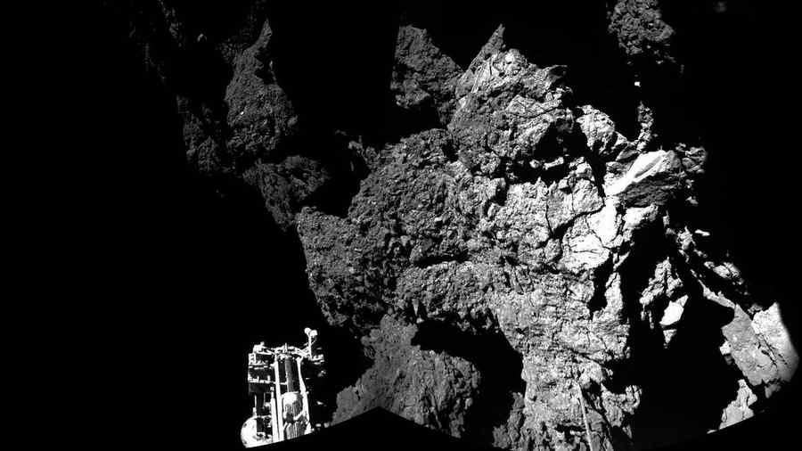 Sonda Philae posada en un asteroide a millones de años luz de La Tierra