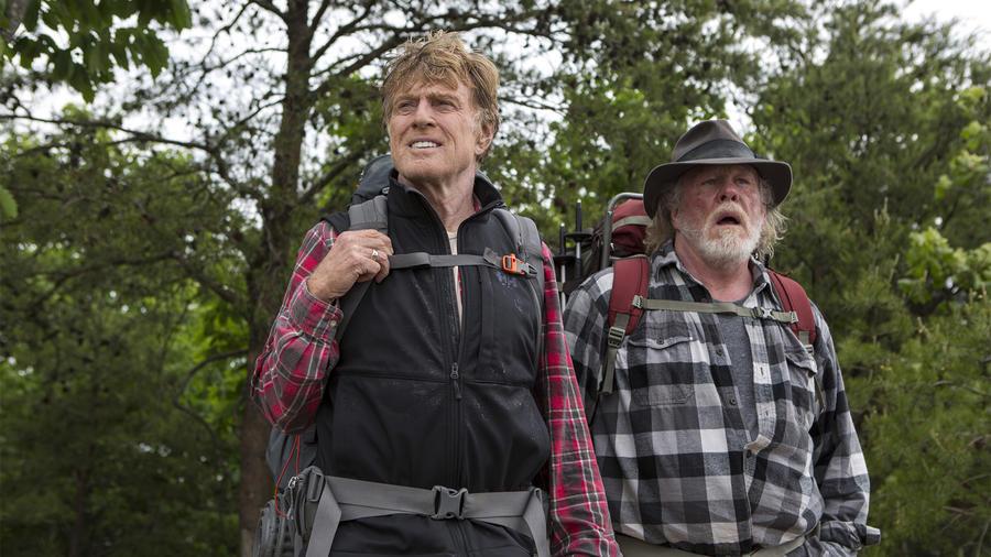 """Robert Redford y Nick Nolte en una escena de la película """"A Walk in the Woods"""""""