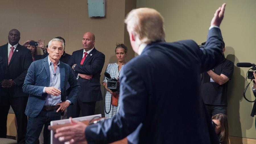 Confrontación entre Donald Trump y Jorge Ramos