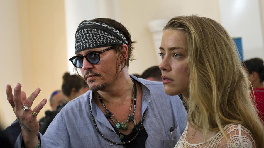 Johnny Depp y su esposa Amber Heard