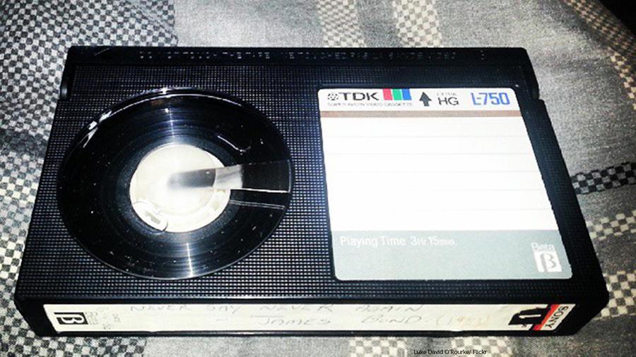 Cinta de vídeo para Betamax, el reproductor de video lanzado al mercado por Sony en 1975