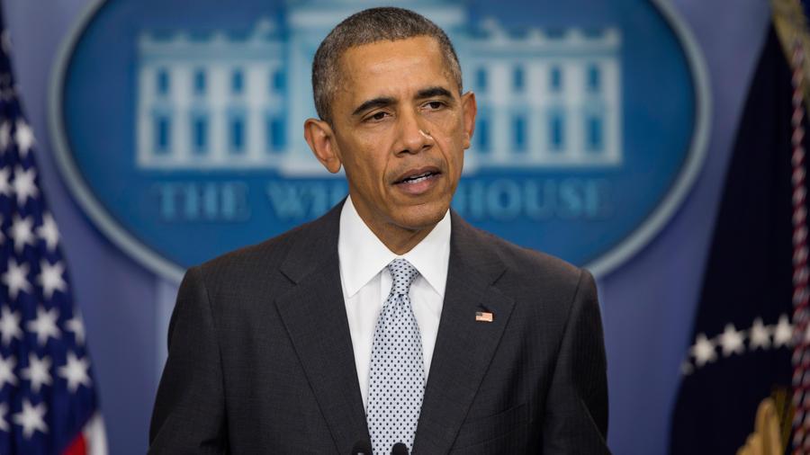 El presidente estadounidense Barack Obama habla sobre los atentados en París desde la sala de prensa de la Casa Blanca, el viernes 13 de noviembre de 2015, en Washington.