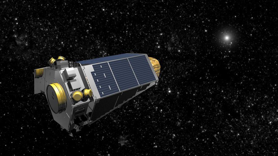 Una representación gráfica muestra cómo se vería la sonda Keplar al viajar por el espacio. Representación gráfica no fechada, suministrada por la NASA