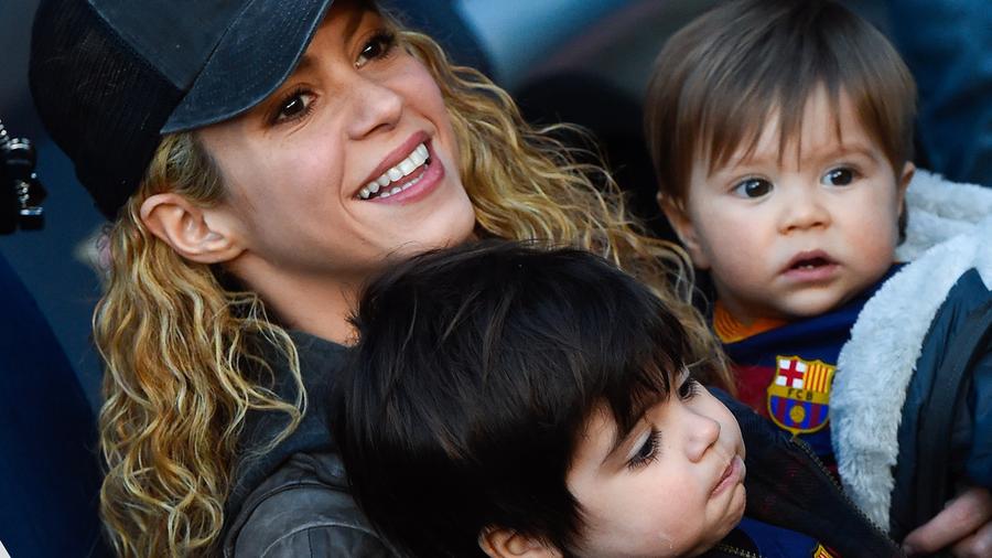 Shakira, Sasha y Milan