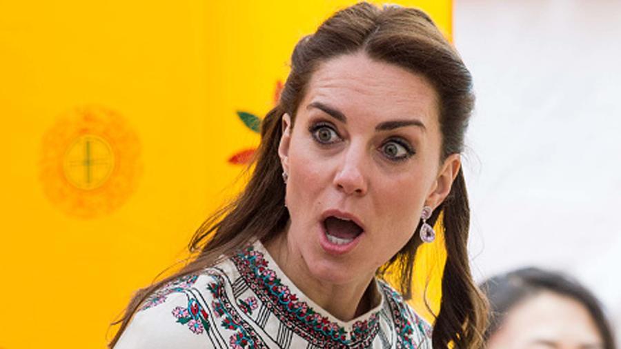 Kate Middleton con rostro de sorpresa