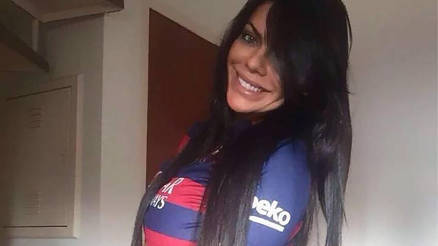 Susy Cortez con camiseta del Barcelona