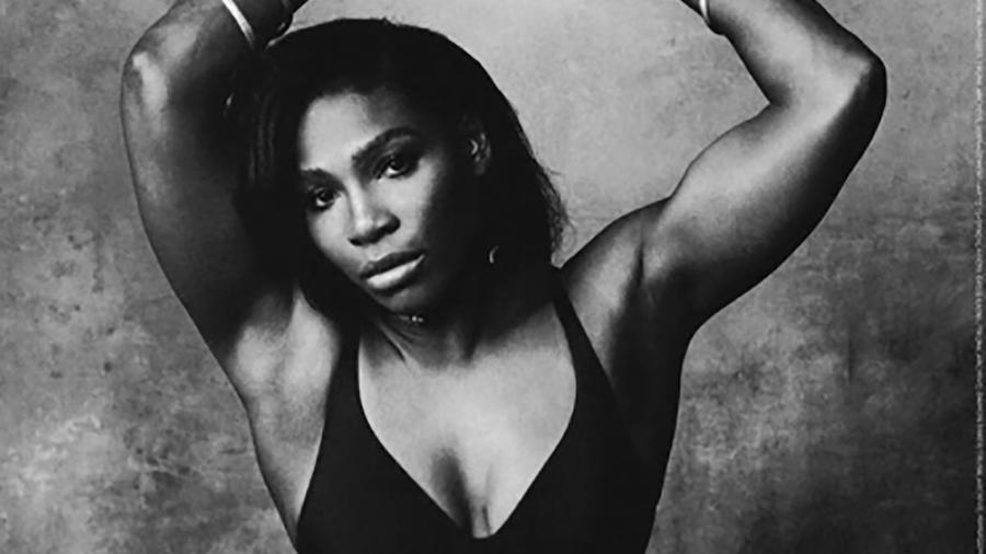 Serena Williams en blanco y negro