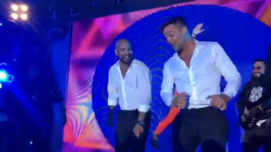 Amaury Nolasco y Ricky Martin en la boda de Eva Longoria