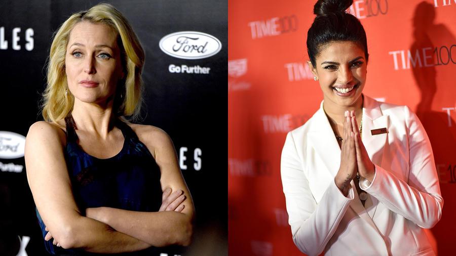 Gillian Anderson y Priyanka Chopra