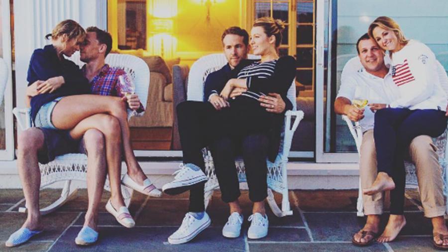 ¿Qué hace Reynolds junto a Taylor Swift y Tom Hiddleston?