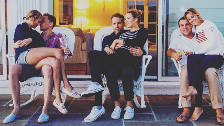 ¿Qué hace Reynolds junto a Taylor Swift y Tom Hiddleston?