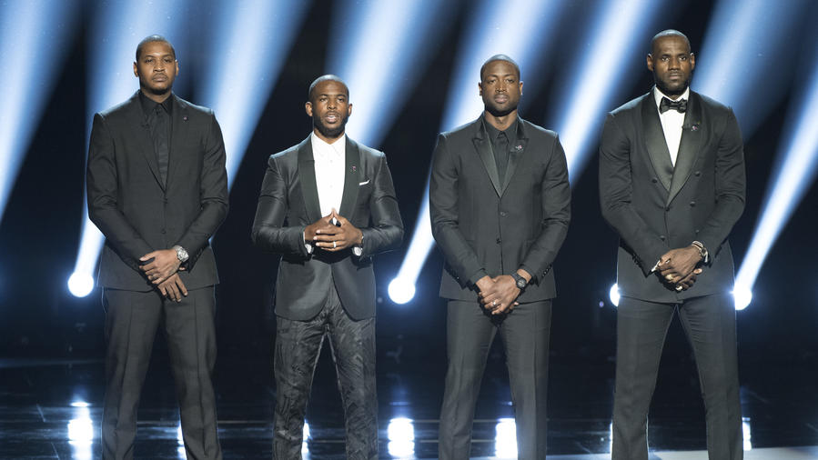 ABC's Coverage of The 2016 ESPYS: LeBron James, Carmelo Anthony, Chris Paul y Dwyane Wade