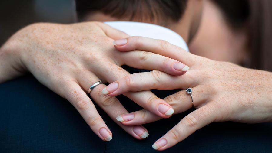 Pareja en matrimonio