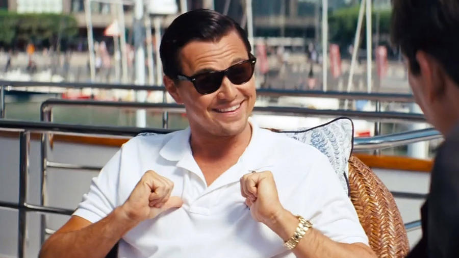 "Leonardo DiCaprio en ""The Wolf of Wall Street"""
