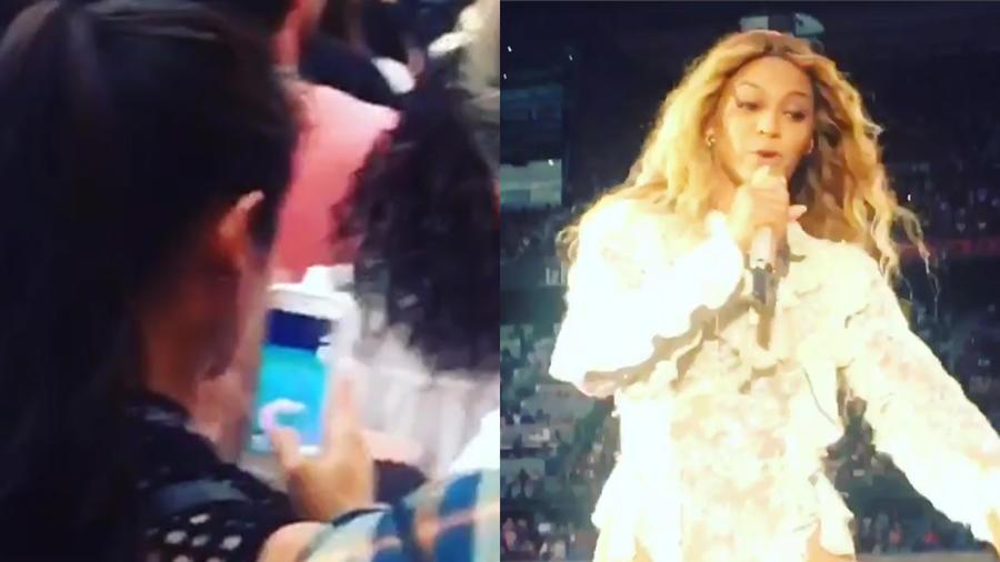 Fan juega Pokemon Go en concierto de Beyoncé