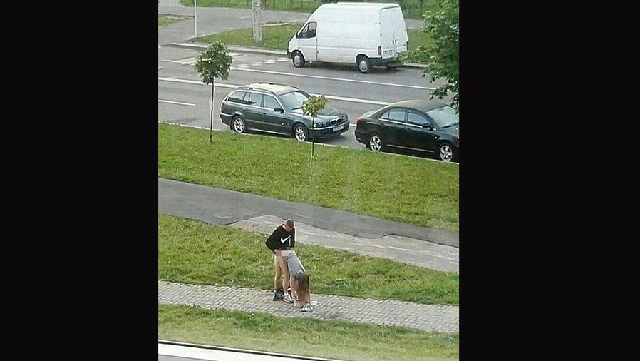 Pareja tiene sexo en Minsk en Bielorrusia