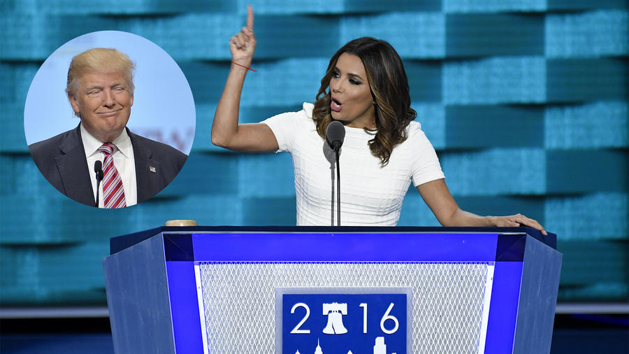 Eva Longoria ataca a Donald Trump durante la convención demócrata