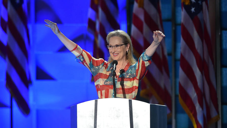 Meryl Streep en el Democratic National Convention