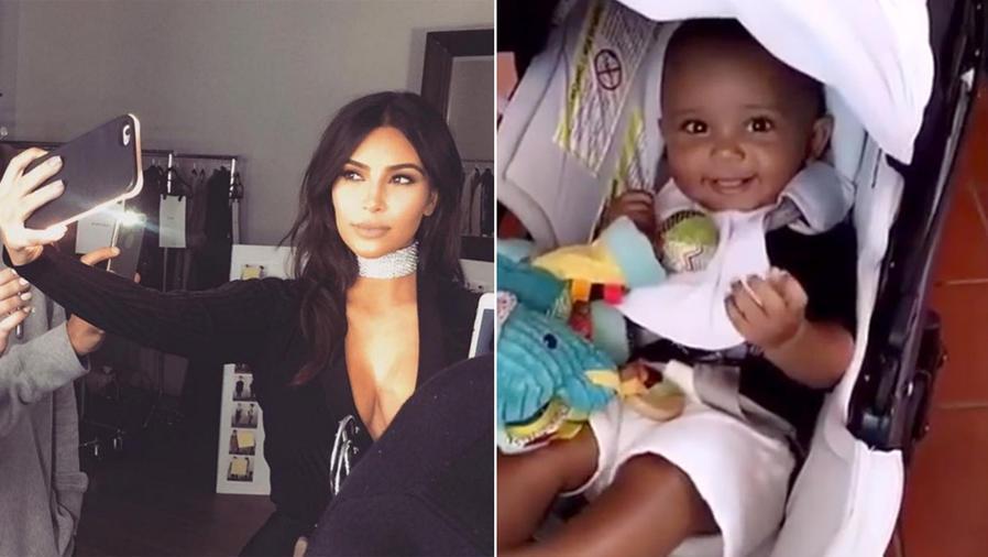Saint West se roba todas las miradas en el Snapchat de Kim Kardashian