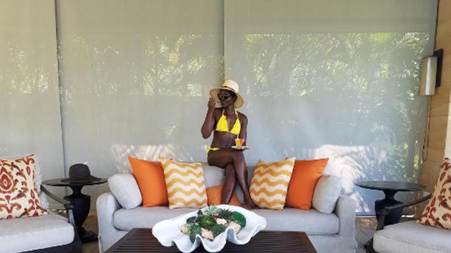 Lupita Nyong'o de vacaciones en Bali.