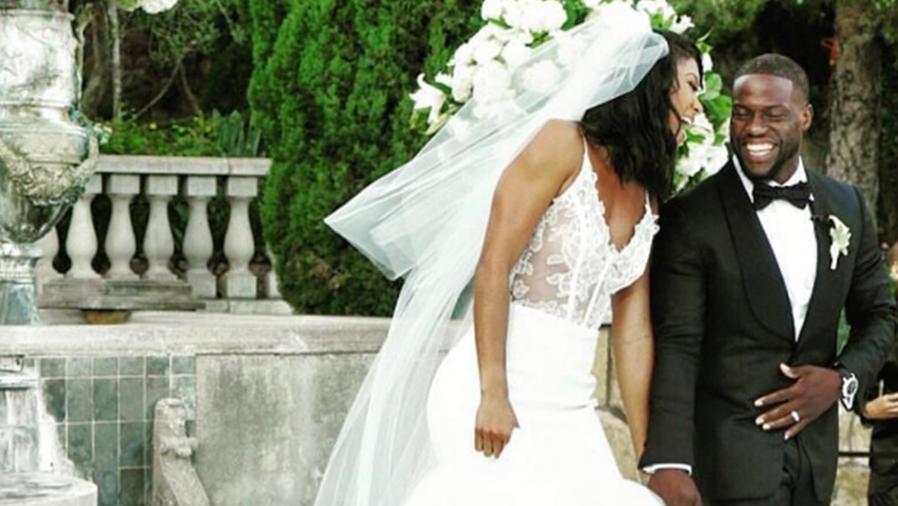 Kevin Hart compartió fotos de su íntima boda con Eniko Parrish