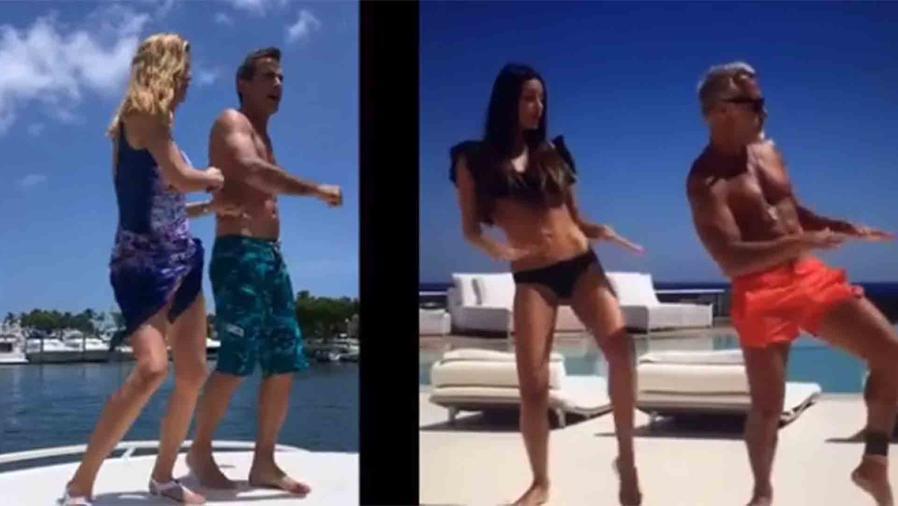 Carlos Ponce y Maritza Rodríguez bailando como Gianluca Vacci