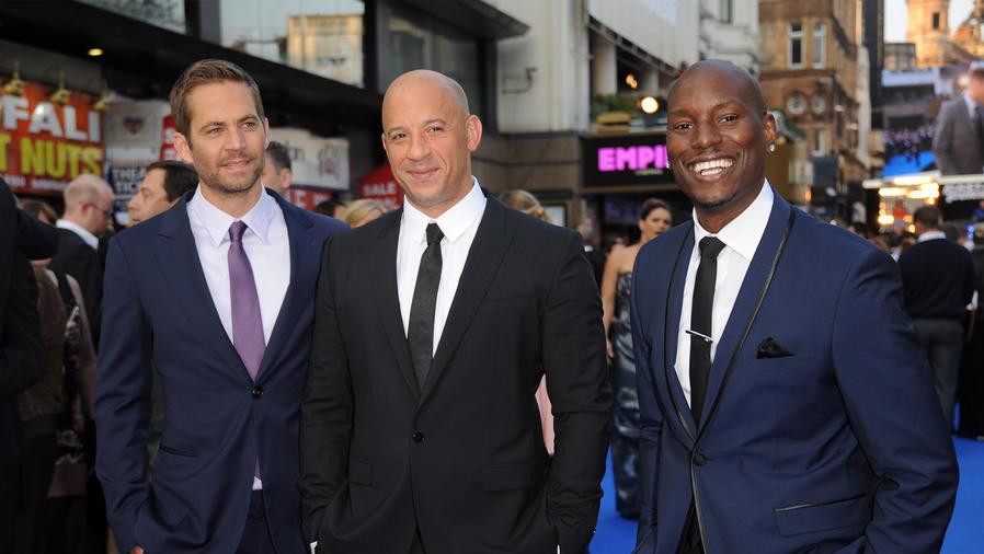 Paul Walker, Vin Diesel y Tyrese Gibson